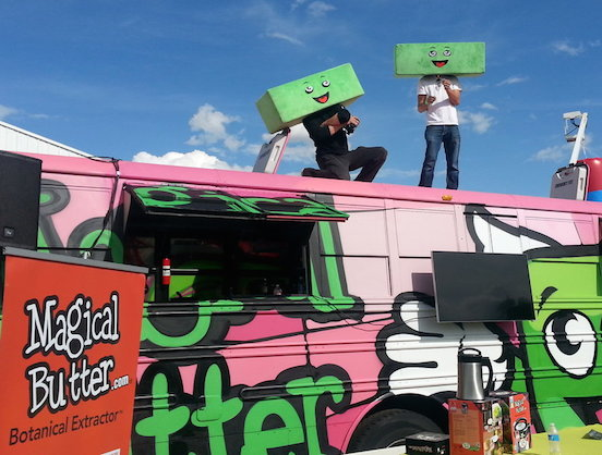 Marijuana and food trucks can finally marry legally! Photo via
