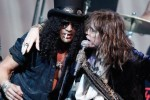 Slash and Aerosmith's Steven Tyler. Photo via