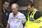 "A sad sight as ""Gazza"" is escorted to an ambulance. Photo via"