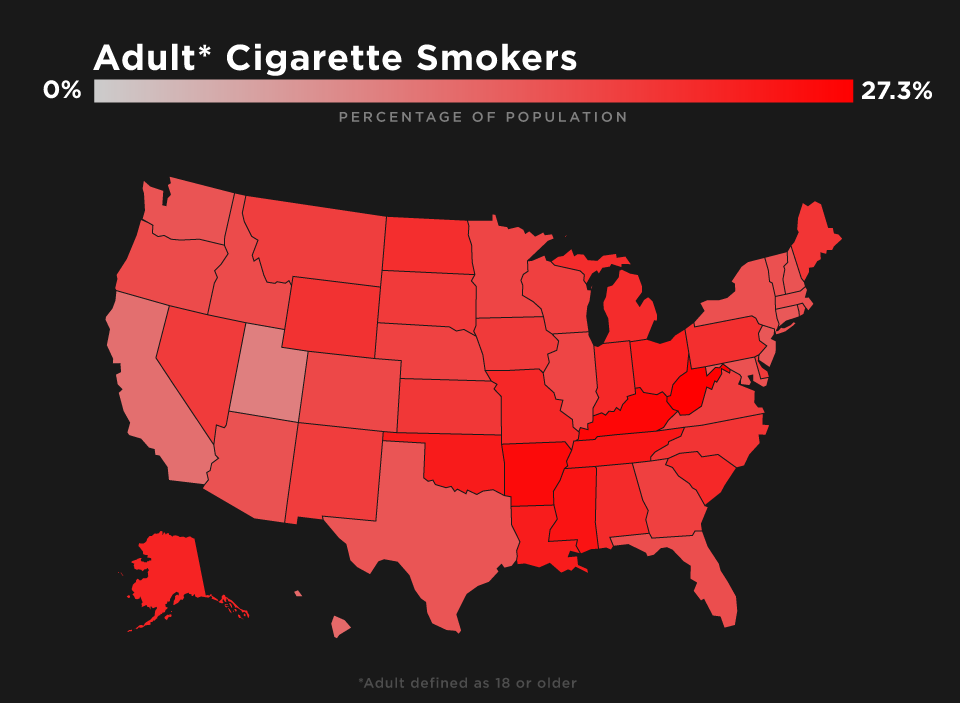 Maps: This Is Where All the Smokers Are in the US