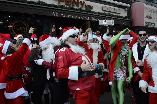 Shot of the Day: Beware, New Yorkers—Santa Con Is Here
