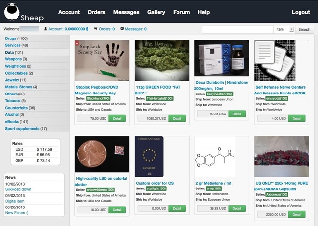 This screen capture illustrates one of the many marketplaces for illicit goods on the Dark Web, which has cashed in on the Cyber Monday phenomenon with special discounts this past weekend. Photo Via