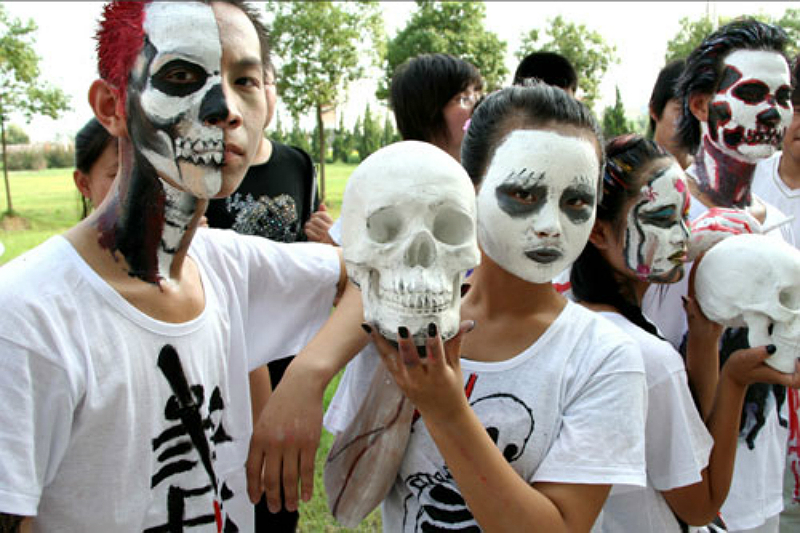 Shot of the Day: A Chinese Anti-Drug Face Painting Showcase