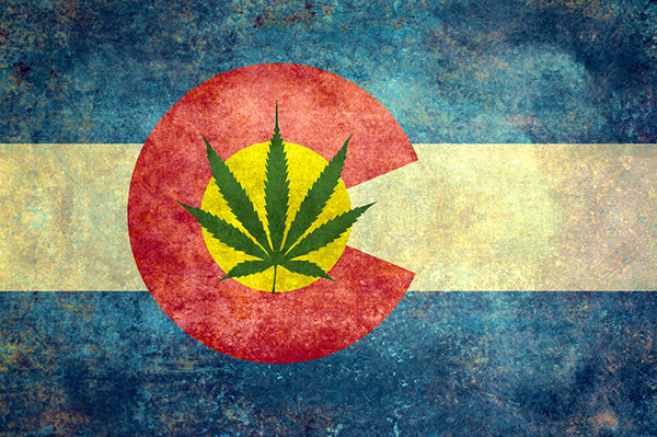 Colorado State flag - Marijuana Leaf