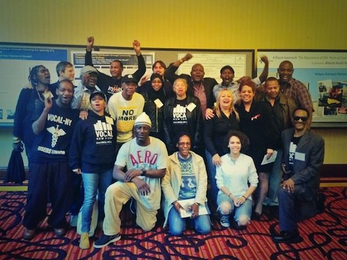 Delegates and drug user organizers in Baltimore. Photo via