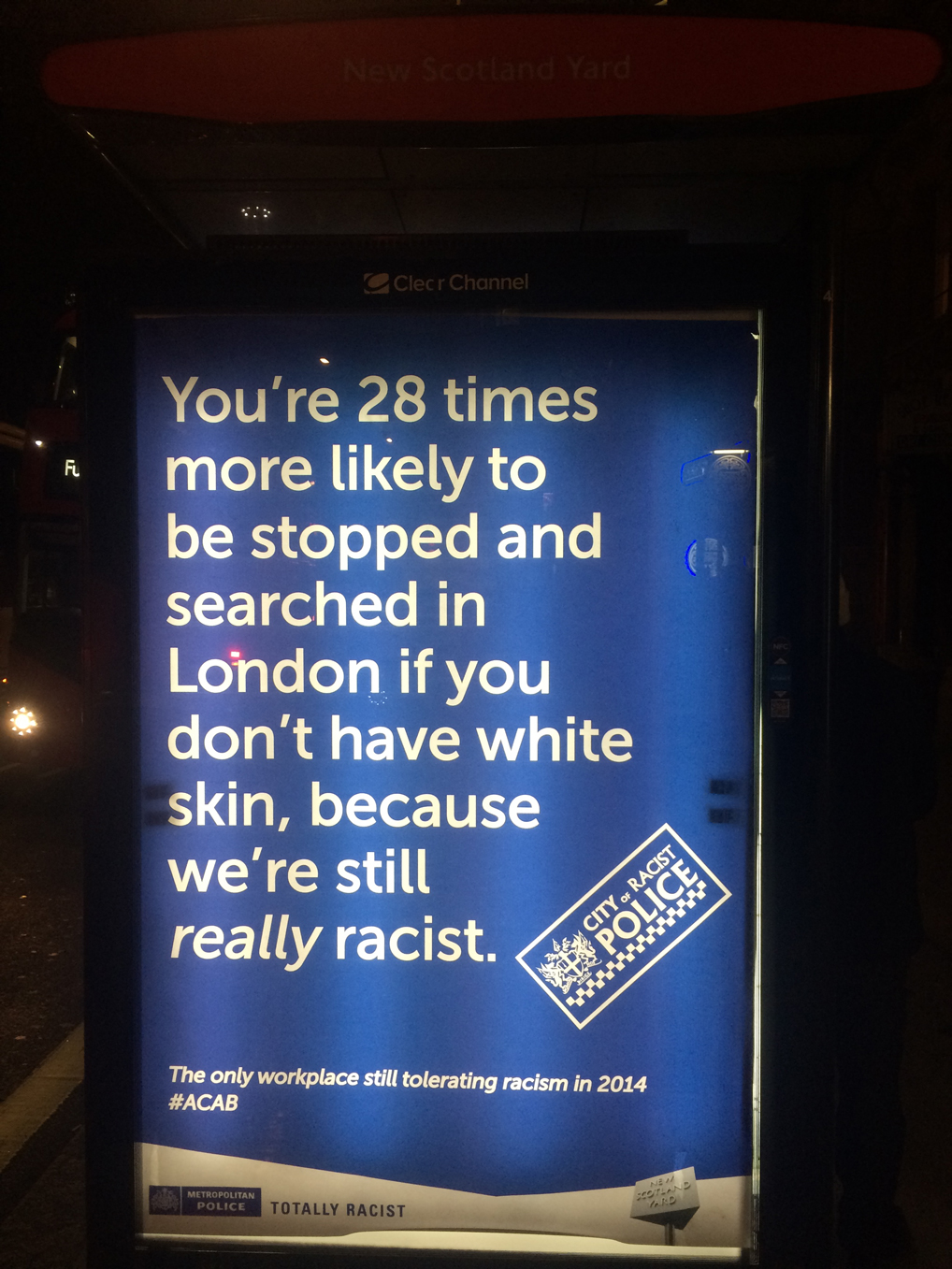 Shot of the Day: This Spoof Poster Highlights Racist Police Practices