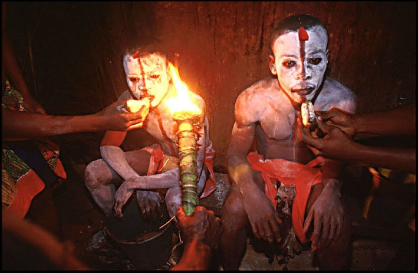 Shot of the Day: A Psychedelic Bwiti Cult Initiation Ceremony