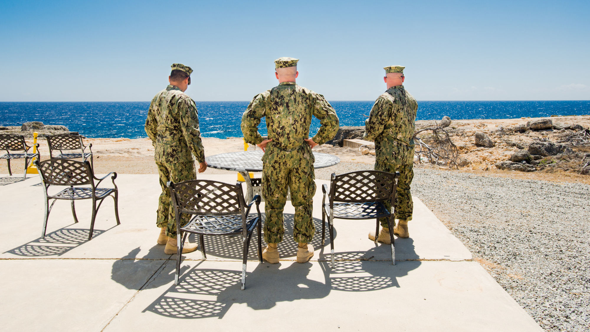 Shot of the Day: This Is What a Smoke Break Looks Like at Guantanamo Bay