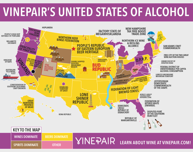 Map: A Geographical Breakdown of America's Booze Habits