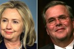 Hillary Clinton and Jeb Bush Photo via